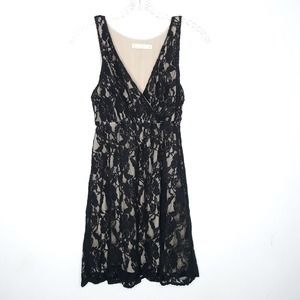 Urban Outfitters Dress Black Floral Lace Overlay